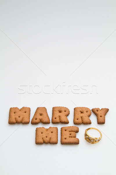Marry Me Biscuits And Ring Stock photo © azamshah72