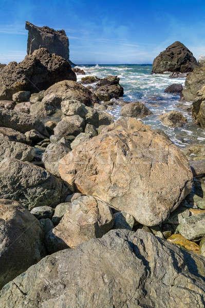 Rocky Beach Landscape Stock photo © Backyard-Photography