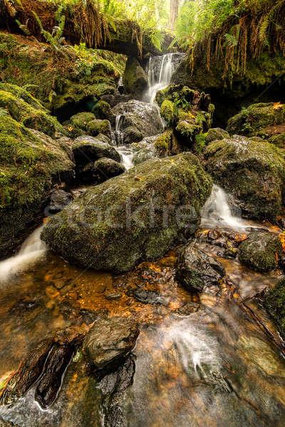 Kicsi vízesés hegyek északi színes kép tavasz Stock fotó © Backyard-Photography