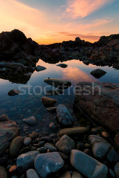 Sunset at a Rocky Pacific Northwest Beach Stock photo © Backyard-Photography