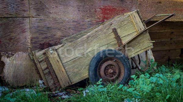 Stock photo: Old Cart