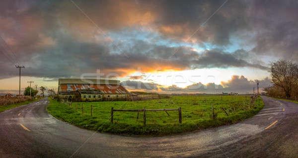Old Barn, Panoramic Color Image Stock photo © Backyard-Photography