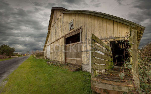 Old Barn, Panoramic Color Image Stock photo © Backyard-Photography