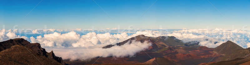 Panorama from the Summit of Haleakala, Maui Stock photo © Backyard-Photography