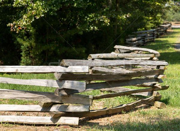 Sín kerítés perem erdő hagyományos oldal Stock fotó © backyardproductions