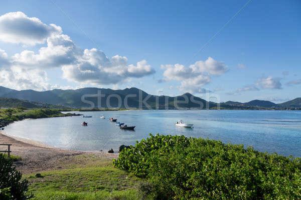 Baie de L'Embouchure boats in water Stock photo © backyardproductions