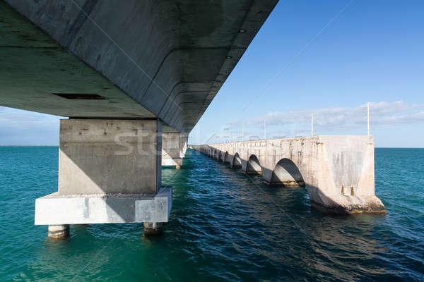 Flórida teclas ponte herança trilha concreto Foto stock © backyardproductions