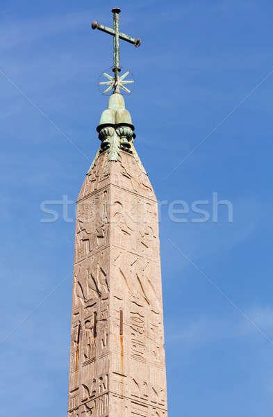 Egipcjanin Rzym star krzyż Włochy miasta Zdjęcia stock © backyardproductions