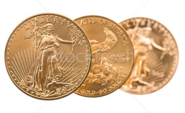 Zdjęcia stock: Kolekcja · jeden · złote · monety · złota · orzeł · złoty