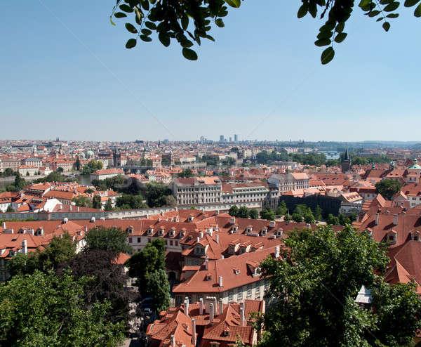 屋根 プラハ 表示 市 チェコ共和国 都市 ストックフォト © backyardproductions