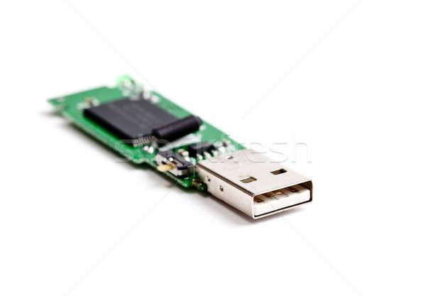 Otwarte usb flash drive płytce drukowanej wewnątrz pamięć Zdjęcia stock © backyardproductions
