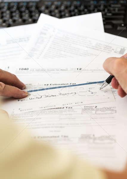USA podatku formularza 1040 rok 2012 Zdjęcia stock © backyardproductions