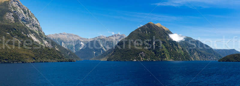 Twijfelachtig geluid New Zealand panorama zuiden eiland Stockfoto © backyardproductions