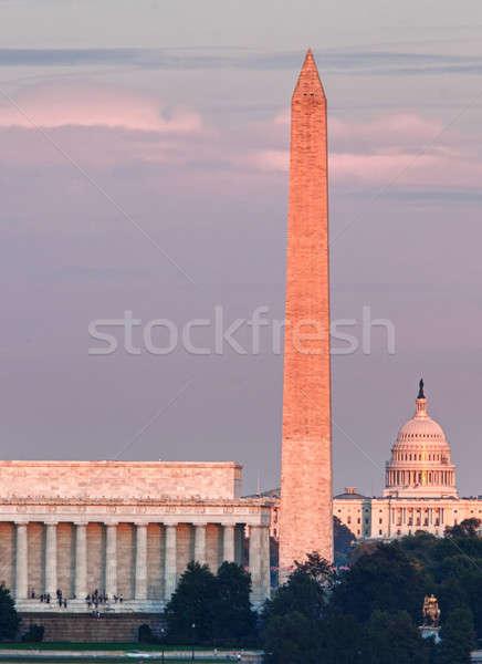 Sunset over Washington DC Stock photo © backyardproductions