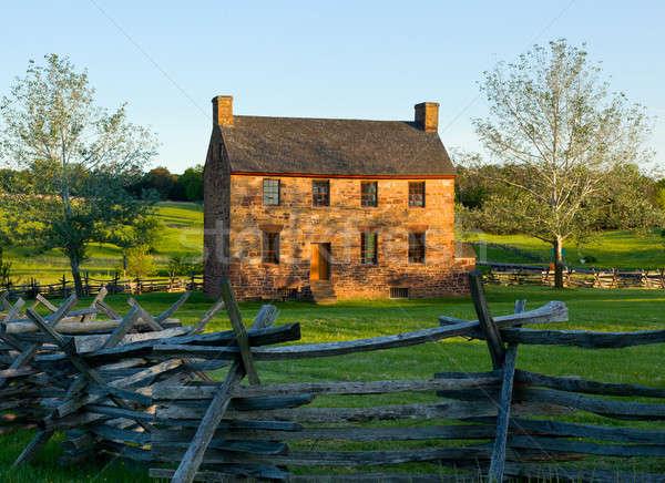 старые каменные дома поле боя центр гражданская война Сток-фото © backyardproductions