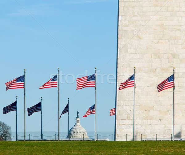 Washington Monument with Capitol Stock photo © backyardproductions