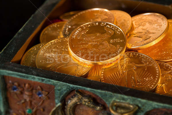 Collection of one ounce gold coins Stock photo © backyardproductions