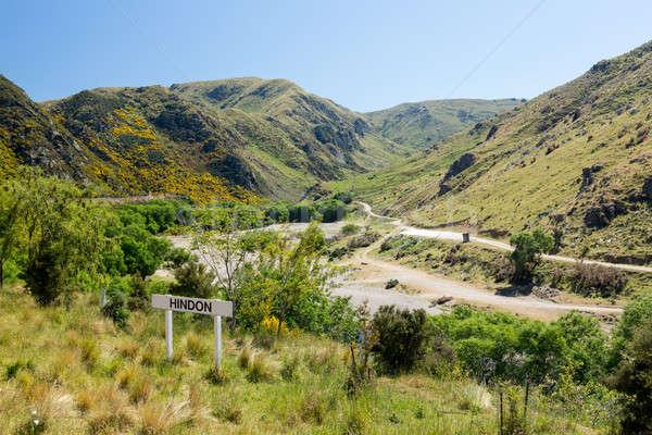 Railway up Taieri Gorge New Zealand Stock photo © backyardproductions