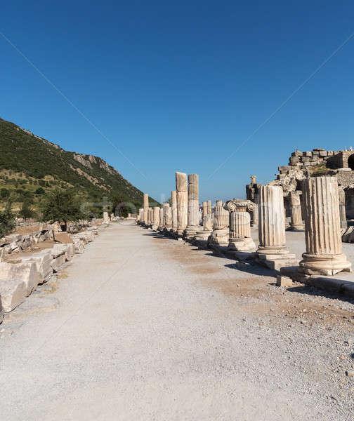 древних руин старые греческий город зданий Сток-фото © backyardproductions