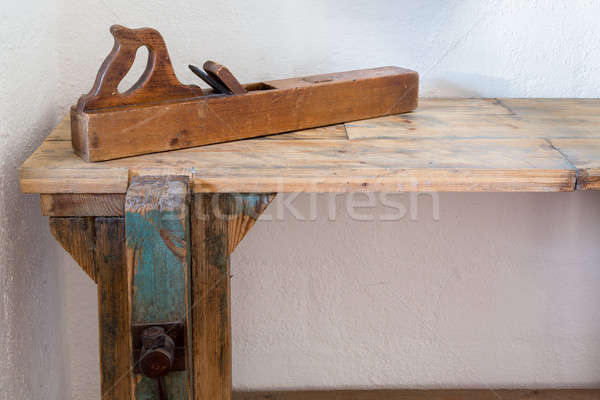 Traditional woodworkers bench Stock photo © backyardproductions