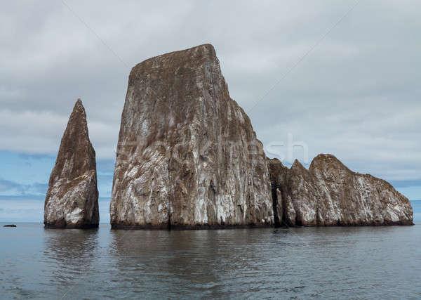 寝 ライオン 岩石層 オフ 海岸 海 ストックフォト © backyardproductions