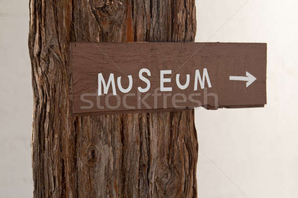 Handmade sign to museum Stock photo © backyardproductions