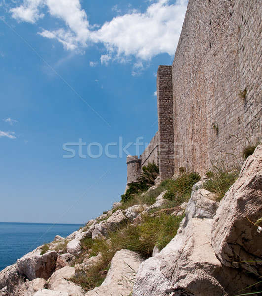 средневековых форт Дубровник древних крепость утес Сток-фото © backyardproductions