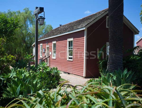 Pedreiro rua escolas San Diego cidade velha vermelho Foto stock © backyardproductions