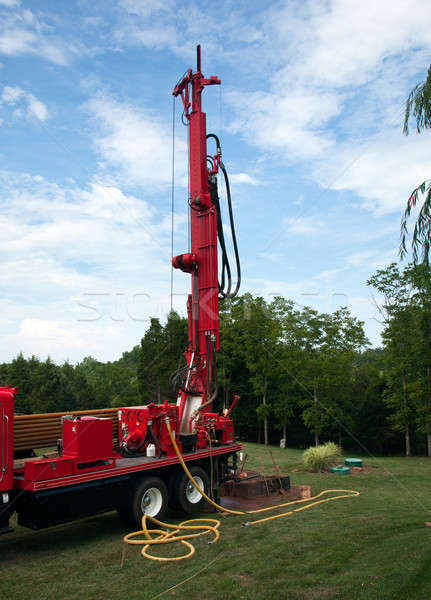 Drilling well in yard Stock photo © backyardproductions