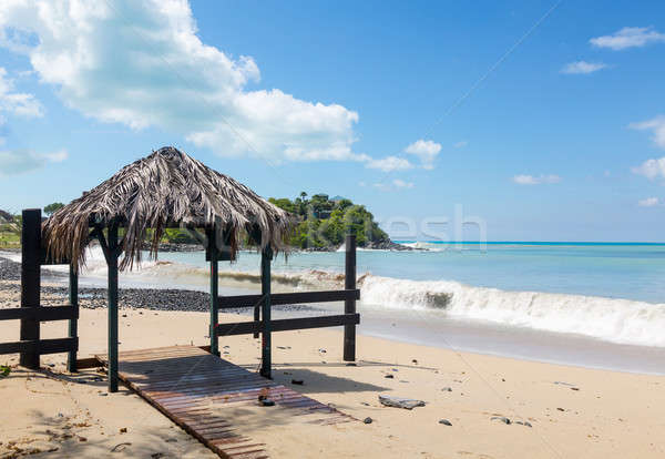 Bar entrance covered by sand Stock photo © backyardproductions