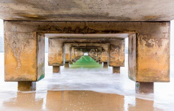 Underside of Hanalei Pier long exposure Stock photo © backyardproductions
