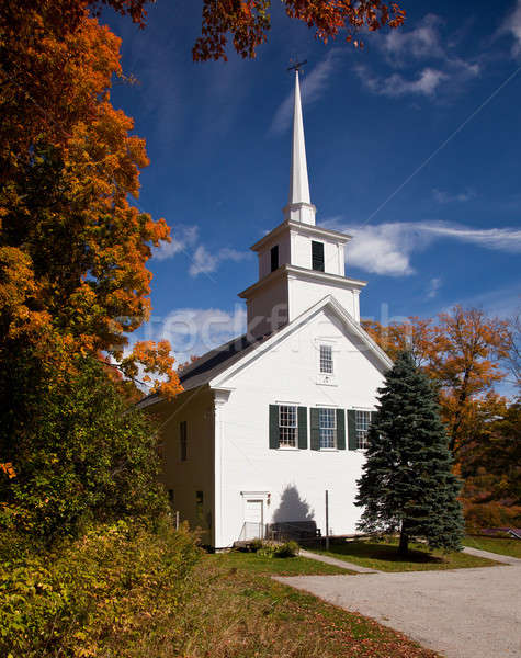 Vermont templom ősz őszi lövés tipikus Stock fotó © backyardproductions