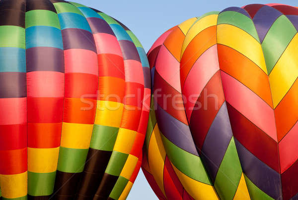 Iki sıcak hava balonlar diğer gökyüzü Stok fotoğraf © backyardproductions