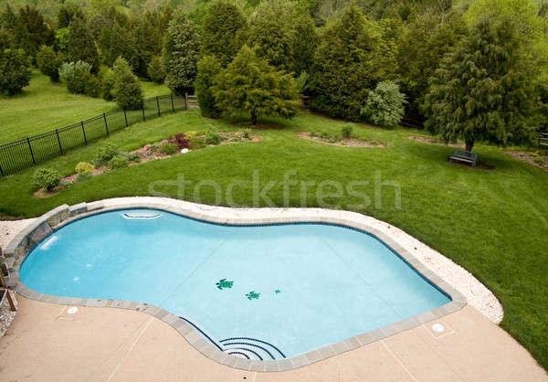 Overview of luxury pool Stock photo © backyardproductions
