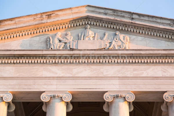 Detail of carving on front of Jefferson Memorial Stock photo © backyardproductions