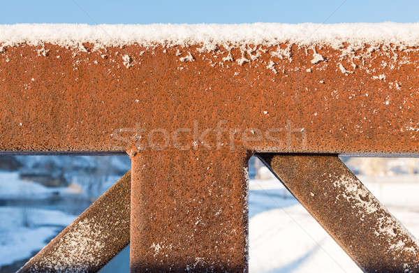 Résumé rouillée structure pont modèle Photo stock © backyardproductions