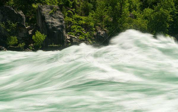 Niagara River at White Water Walk in Canada Stock photo © backyardproductions