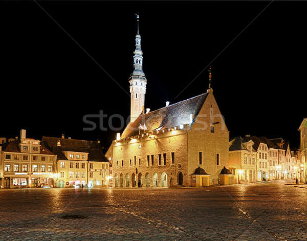 Raekoja square in Tallinn Stock photo © backyardproductions