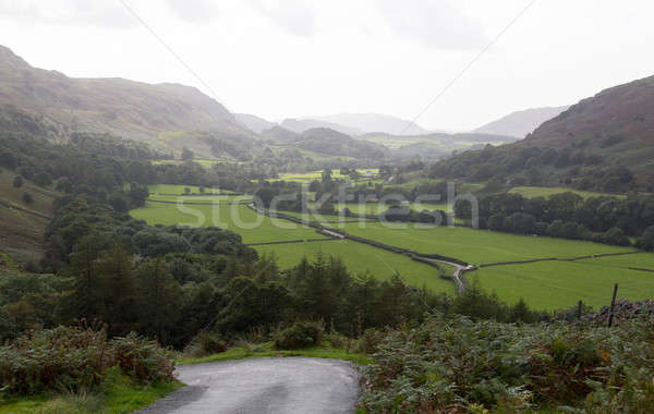 View toward Eskdale from HardKnott Pass Stock photo © backyardproductions