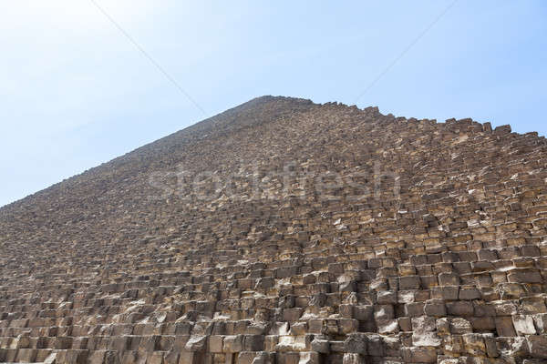 Heat haze over Great Pyramid of Giza Cairo Stock photo © backyardproductions