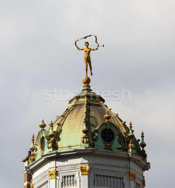 Roi Bruxelas pormenor telhado ouro lugar Foto stock © backyardproductions