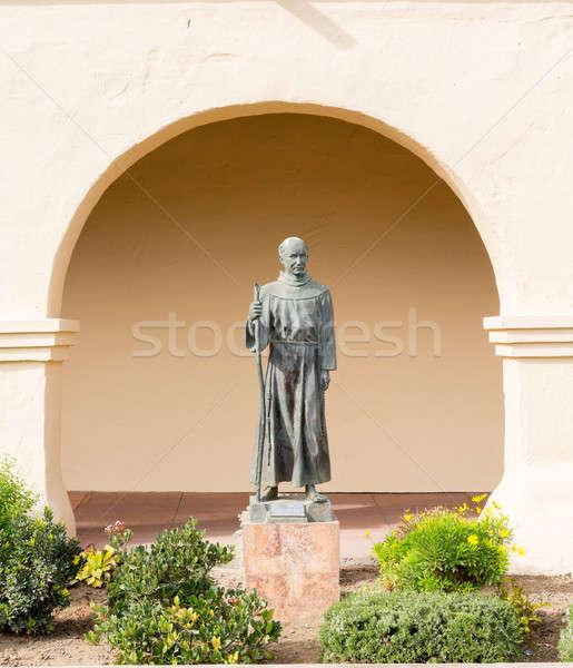 Father Junipero Serra statue Santa Ines Mission Stock photo © backyardproductions