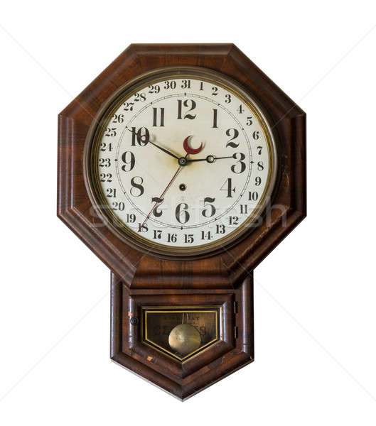 Antique wall clock in old General store at Appomattox Stock photo © backyardproductions