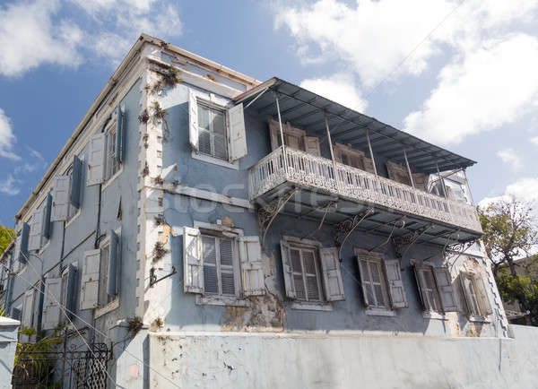 Old house in Charlotte Amalie St Thomas Stock photo © backyardproductions