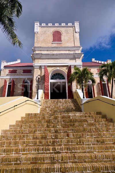 Lutheran Church in St Thomas Stock photo © backyardproductions