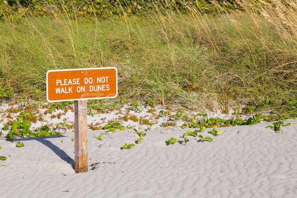Keep off dunes sign in Florida Stock photo © backyardproductions