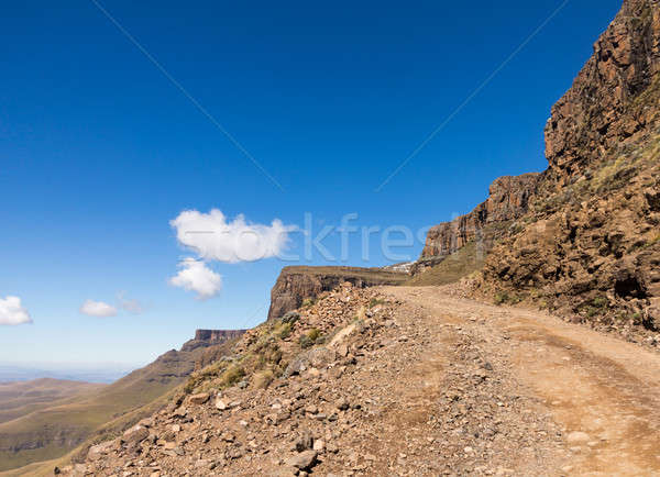 Sani pass to Lesotho Stock photo © backyardproductions