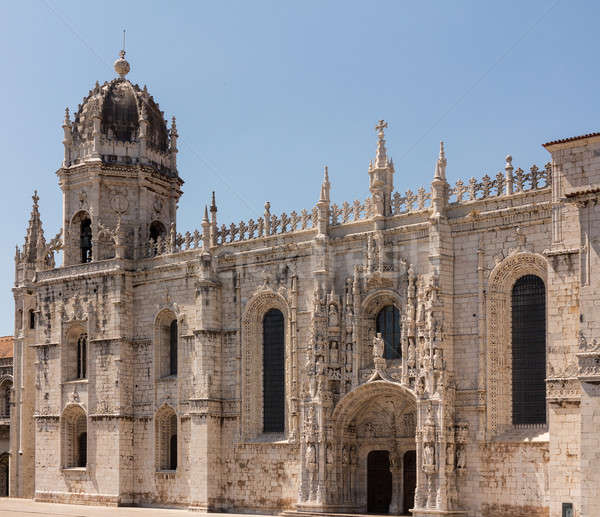 Jeronimos Monastery in Belem Lisbon Stock photo © backyardproductions