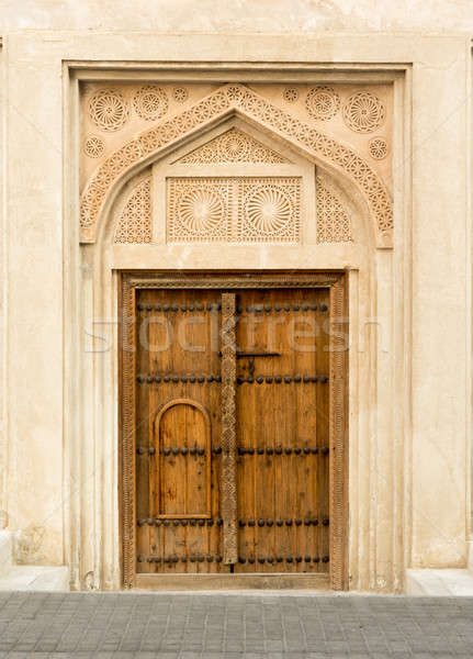 Casa Bahrein pormenor porta Foto stock © backyardproductions