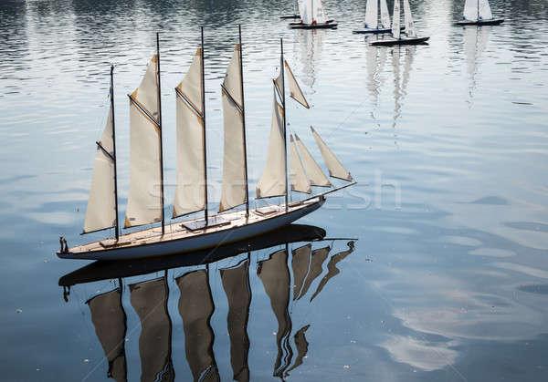 Modell verseny tavacska kertek jacht sok Stock fotó © backyardproductions